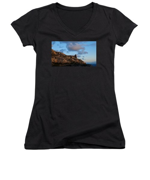 A Mountain With A View Women's V-Neck