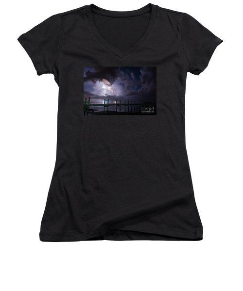 A Pier With A View Women's V-Neck T-Shirt