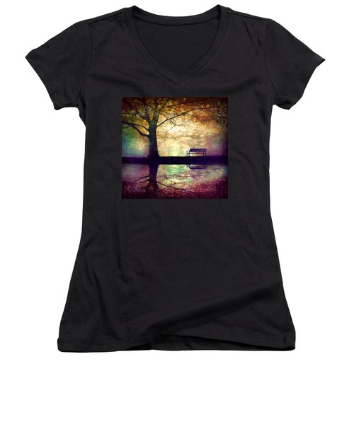 A Place To Rest In The Dark Women's V-Neck