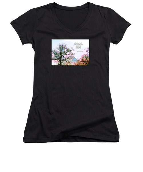 A Poem And A Tree I Women's V-Neck T-Shirt