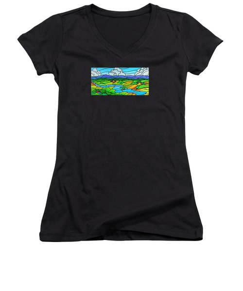 A River Runs Through It Women's V-Neck (Athletic Fit)