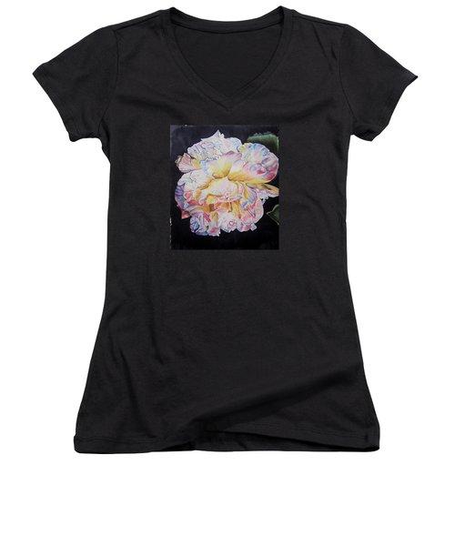 A Rose Women's V-Neck T-Shirt (Junior Cut) by Teresa Beyer