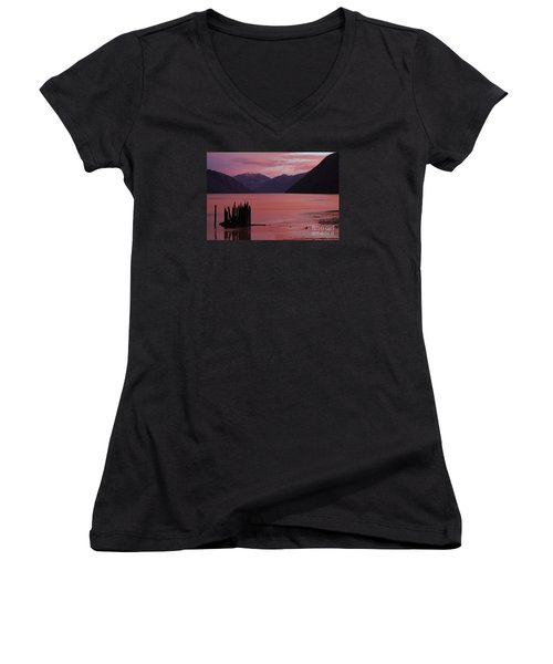 A Sublime September Sunset Women's V-Neck (Athletic Fit)