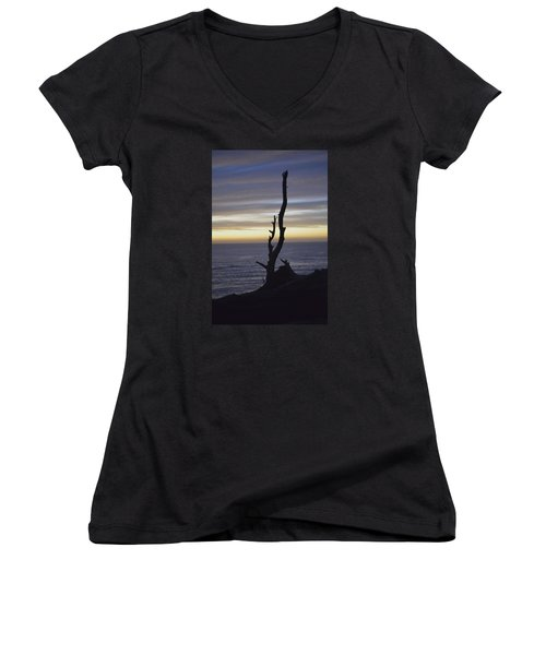 A Sunset Women's V-Neck T-Shirt