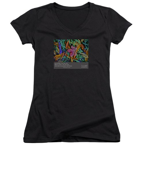 A Time To Every Purpose Under Heaven Women's V-Neck T-Shirt (Junior Cut) by Jim Fitzpatrick