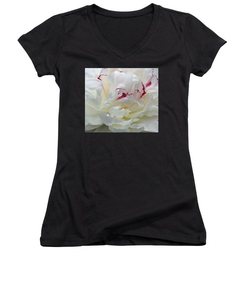 Women's V-Neck T-Shirt (Junior Cut) featuring the photograph A Touch Of Color by Sandy Keeton