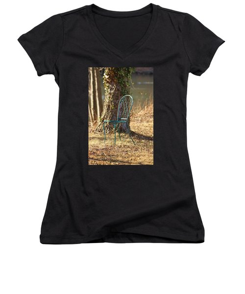 A Tranquil Place To Sit Women's V-Neck (Athletic Fit)