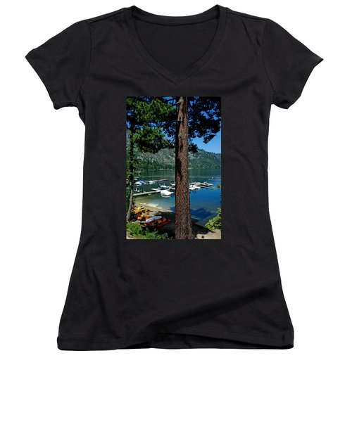 A Trees View Of Fallen Leaf Lake Women's V-Neck (Athletic Fit)