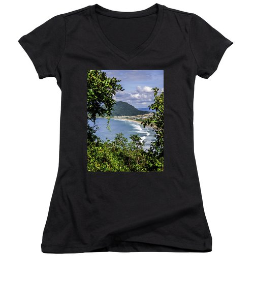 A View Of The Beach Women's V-Neck