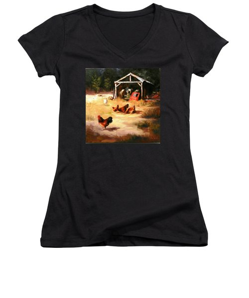 A Watchman Women's V-Neck (Athletic Fit)