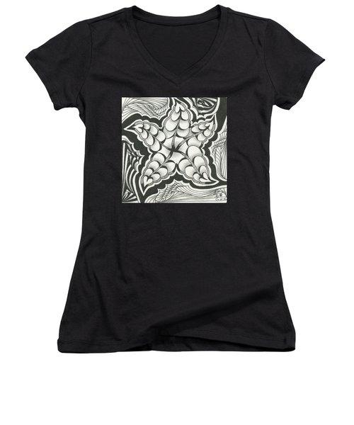 A Woman's Heart Women's V-Neck T-Shirt (Junior Cut) by Jan Steinle