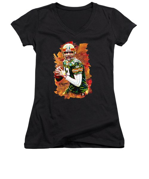 Aaron Rodgers Women's V-Neck (Athletic Fit)
