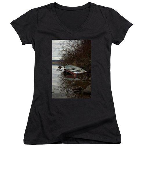 Abandoned Boat Women's V-Neck T-Shirt