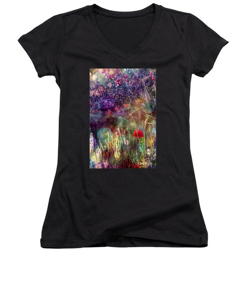 Abandoned Garden Women's V-Neck T-Shirt