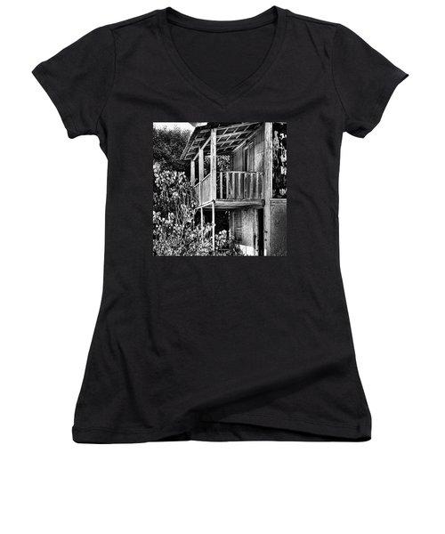 Abandoned, Kalamaki, Zakynthos Women's V-Neck T-Shirt (Junior Cut) by John Edwards