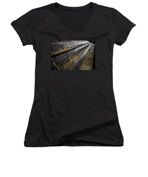 Abandoned Theatre Steps - Architectual Abstract Women's V-Neck T-Shirt