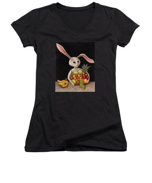 Abbondanza Women's V-Neck T-Shirt (Junior Cut) by Holly Wood