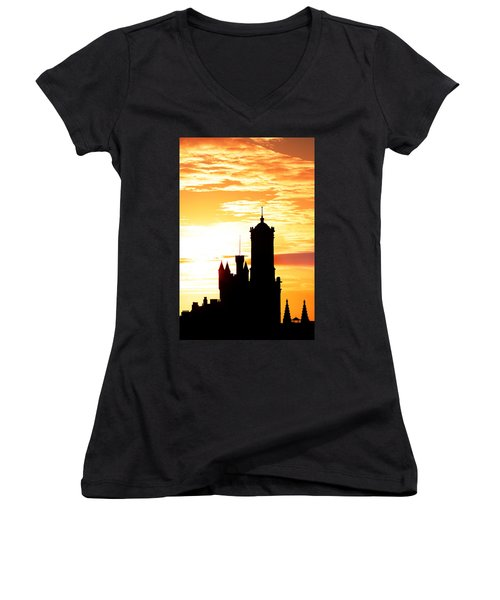 Aberdeen Silhouettes - Portrait Women's V-Neck T-Shirt