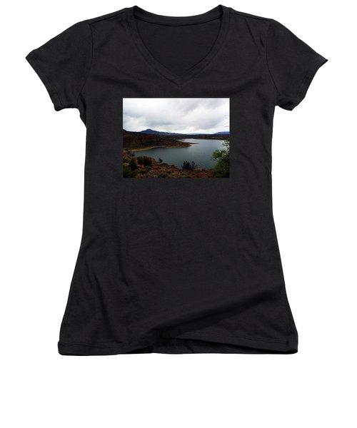 Abique Lake Nm Women's V-Neck T-Shirt