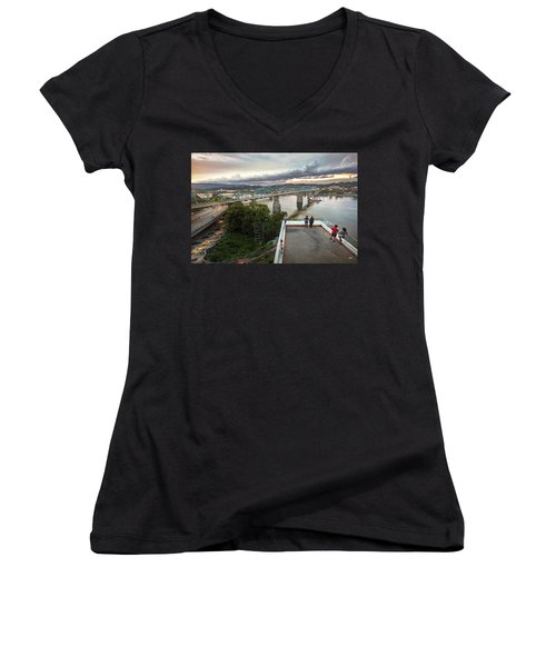 Above The Bluff, Musuem View Women's V-Neck T-Shirt
