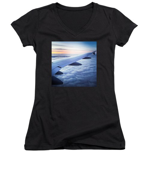Above The Clouds 01 Women's V-Neck