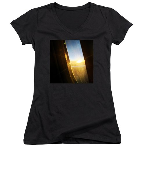 Above The Clouds 05 - Sun In The Window Women's V-Neck