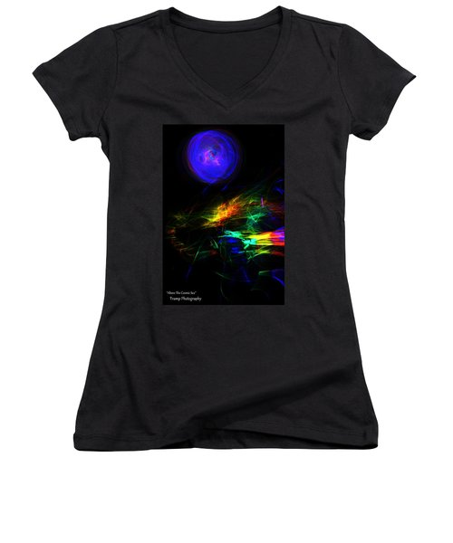 Above The Cosmic Sea Women's V-Neck