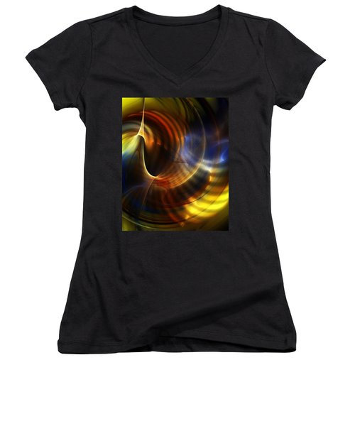Abstract 040511 Women's V-Neck (Athletic Fit)