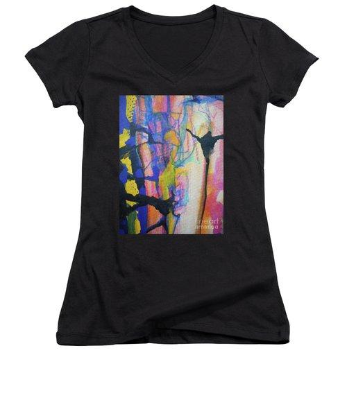 Abstract-3 Women's V-Neck