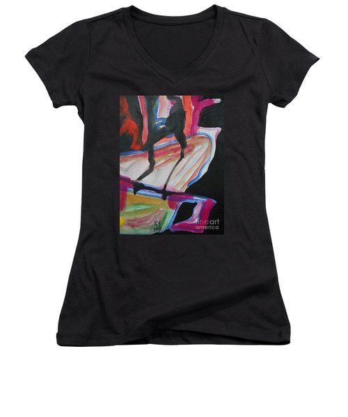 Abstract-5 Women's V-Neck