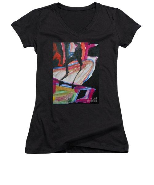 Abstract-5 Women's V-Neck
