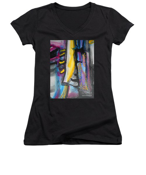 Abstract-8 Women's V-Neck