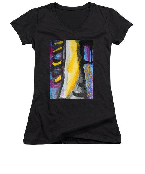 Abstract-8 Women's V-Neck