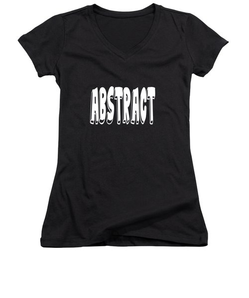 Abstract One Word Quotes Symbolic Art Quotes  Women's V-Neck