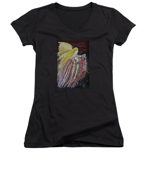 Abstract Angel Women's V-Neck T-Shirt