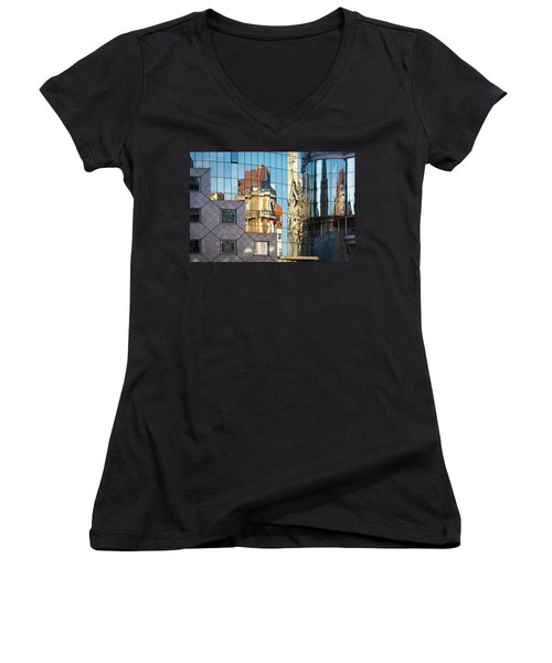 Abstract Architecture Women's V-Neck T-Shirt