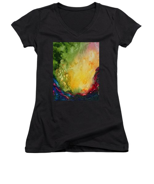 Abstract Color Splash Women's V-Neck