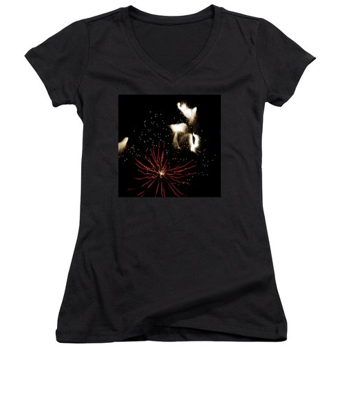 Abstract Fireworks IIi Women's V-Neck (Athletic Fit)