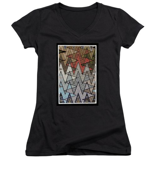 Abstract Floor  Women's V-Neck (Athletic Fit)