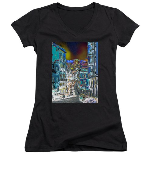 Abstract  Images Of Urban Landscape Series #11 Women's V-Neck