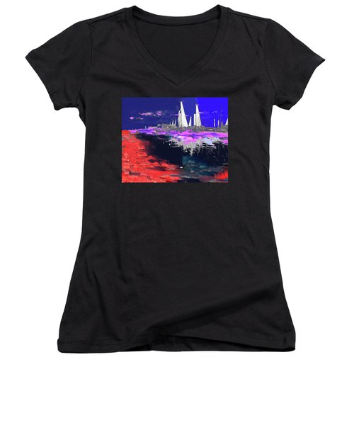 Abstract  Images Of Urban Landscape Series #14 Women's V-Neck