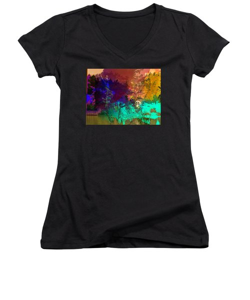 Abstract  Images Of Urban Landscape Series #4 Women's V-Neck