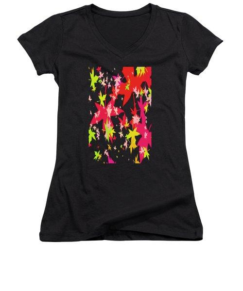 Abstract Leaf Women's V-Neck