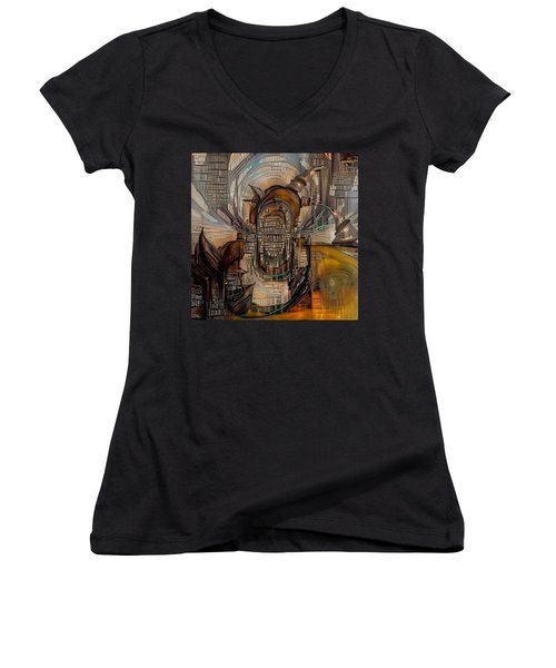 Abstract Liberty Women's V-Neck (Athletic Fit)