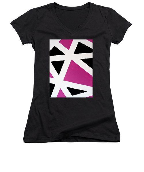 Abstract M1015bp Women's V-Neck
