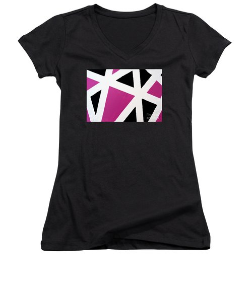Abstract M1015l Women's V-Neck (Athletic Fit)