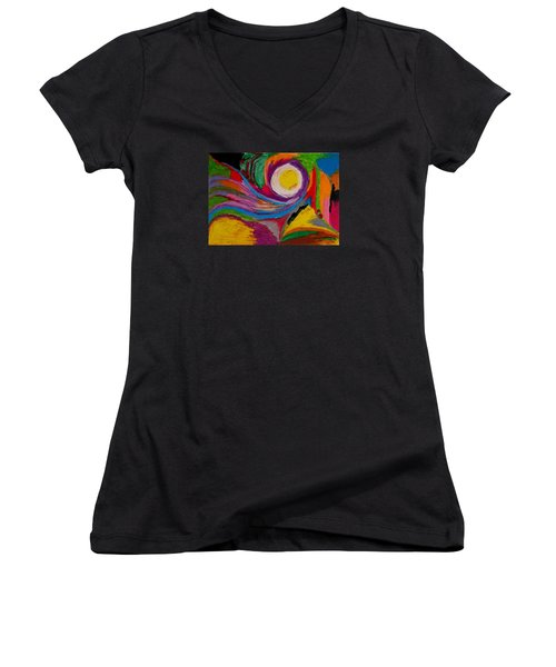 Abstract No.6 Innerlandscape Women's V-Neck T-Shirt (Junior Cut) by Maria  Disley