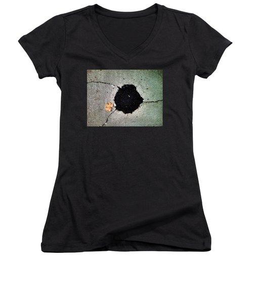 Abstract Sidewalk Women's V-Neck