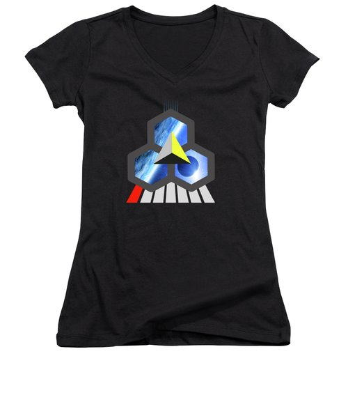 Abstract Space 1 Women's V-Neck T-Shirt