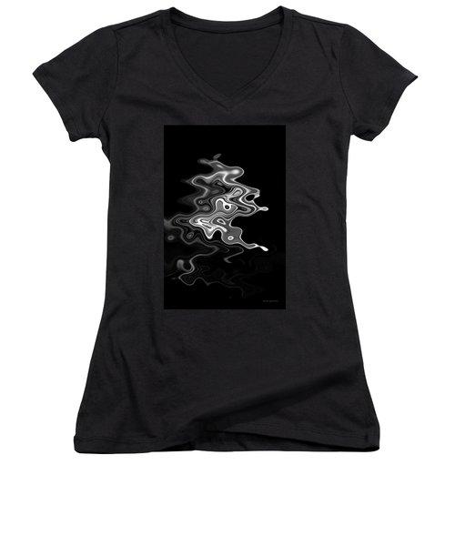 Abstract Swirl Monochrome Women's V-Neck